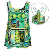 Bright Aztec Print Top